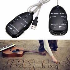 Interfaz Guitarra A Usb Cable Adaptador para los cables de enlace Audio Pc/Mac la grabación nuevos