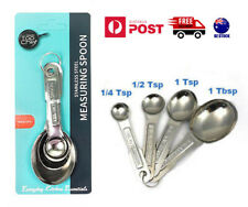 4 X Measuring Spoons Set Kitchen Tea Coffee Sugar Spoon Measuringspoon