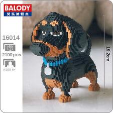 Balody Dachshund Pet Dog Black Animal 3D Model Mini Diamond Blocks Building Toy