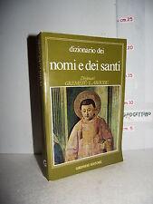 LIBRO Pierre Pierrard DIZIONARIO dei NOMI e dei SANTI ed.1990 cura Sara Laguzzi