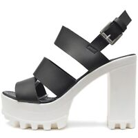 Damen Plateau High Heels Sandalen Sommer Schuhe dicker Block Absatz Profil Sohle