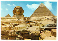 Giza: The Great Sphinx and Khephren Pyramid Egypt Rare Picture Postcard