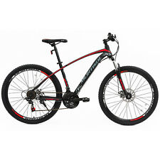 "27.5"" Red Black Front Suspension Mountain Bike Bicycles Dics Brakes 21 Speeds"