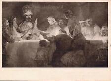 VINTAGE POSTCARD,REMBRANDT,CLAUDIUS CIVILIS' SAMMANSVARJNING NATMUSEUM STOCKHOLM