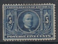 USA Scott #326  5 cent  Louisiana Purchase   F