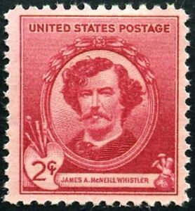 USA 1940 (3 for $1 SALE) Famous American - James A. McNeill Whistler/Artist-#885