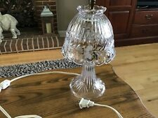 """Crystal Cut Glass Small Boudoir Table Lamp with Matching Shade 11"""""""