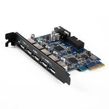 Orico USB3.0 PCI-E Tarjeta PCI Express Controlador Adaptador de Expansión Para Computadora Pc