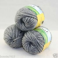 Sale New 3 ballsx50g Hand Knitting Worsted Quick Yarn Soft Wool Silk Velvet 206