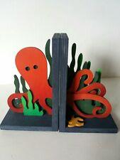 Wooden bookends - Octopus