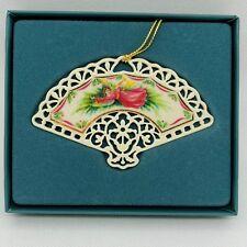 Lenox Ornament Pierced Victorian Lace Fan 1991 & Box