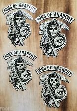 Mini 4er set sons of Anarchy redwood old school autocollant sticker BIKER HARLEY
