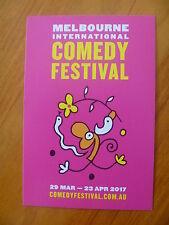 POSTCARD...2017 MELBOURNE INTERNATIONAL COMEDY FESTIVAL....MICHAEL LEUNIG ART