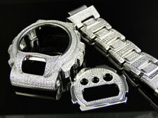 G Shock Gshock White Gold Simulated Diamond Watch Accessory Bezel Band 6900