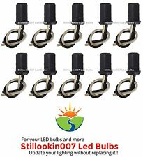 10 x Replacement light sockets for 12v T5 Landscape Light Bulbs. Push-in style