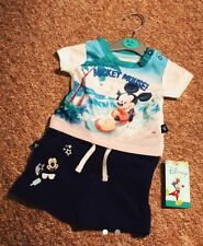 Baby Disney Mickey Mouse Newborn 0-3 Months Summer Clothes Outfit Shorts Tshirts