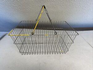 Large Vintage Metal Shopping Basket