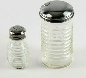 Tablecraft 12 oz Beehive Sugar Pourer and Glass Salt Shaker Clear NEW