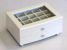 NEW JAPAN QUALITY WOODEN JEWELLERY GIFT BOX IN GLOSS PEARL WHITE 046 SHELL 1.5k