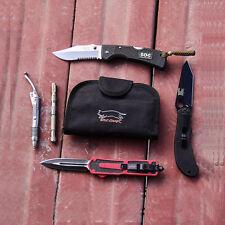 1000D Anti-Wear Polyester Knife Storage Bag 4-Pocket Cutlery EDC Tools Foldable