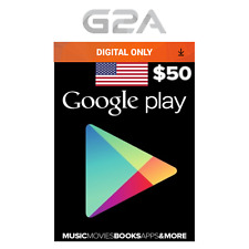 $50 USD Google PLAY Store Gift Card - 50 Dollar Google Play Code - Android Key