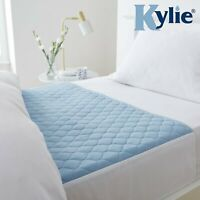 Kylie-3, Bed Pad Washable Absorbent Incontinence Sheet -Blue, 91 x 91 cms