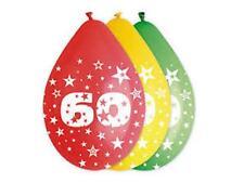 PALLONCINI 60 ANNI blister 10 pz Colori Assortiti Addobbi festa 60° Compleanno