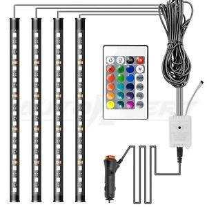 60 LED Interior Car Lights LED Car Strip Lamp Under Dash Seat Lighting DIY Mode