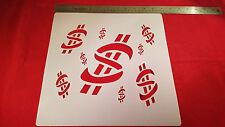 AIRBRUSH SHIRT SIZED STENCIL MONEY BACKGROUND BG 113 ART AIRBRUSHING DESIGNS