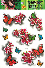 New Waterproof Colorful Removable Temporary Tattoo DIY 3D Flower Sticker