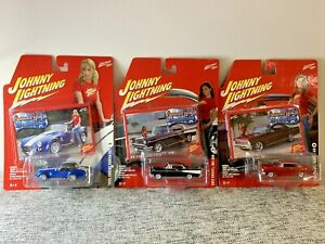 Johnny Lightning American Beauties *LOT OF 3* Diecast Collectibles