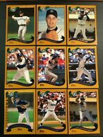 2002 Topps SEATTLE MARINERS Complete Team Set 28 ICHIRO 3 Cards HOT $$ LOOK $$