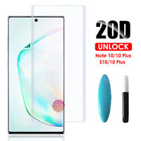 For Samsung Galaxy Note10+ 9 S9 S10+ UV Liquid Tempered Glass Screen Protector