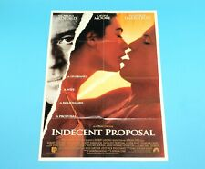 DOUBLE SIDED FOLDOUT POSTER INDECENT PROPOSAL LUKE PERRY 1993 HITKRANT MAGAZINE