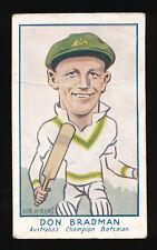 1933 Don Bradman Turf Cigarettes Personality Sreries cigarette card