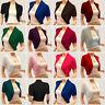Ladies Short Sleeve Bolero Jacket Womens Shrug Cardigan Coats Tops Cover Up Wrap