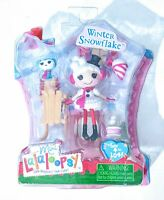 MINI LALALOOPSY WINTER SNOWFLAKE WITH PET DOG & SLED SNOW CONE NEW 2014