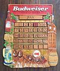 Vintage Budweiser King of Beers Wooden Perpetual Calendar HTF