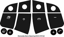 W251 W164 Mercedes Benz Worn Steering Wheel Button Repair Decals Stickers