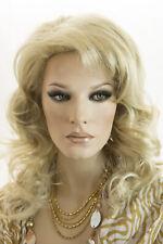 Creamy Blonde Long Wavy Curly Wigs