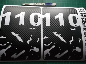 DEFENDER 110  Body panel CARBON FIBRE EFFECT Door Sticker SET