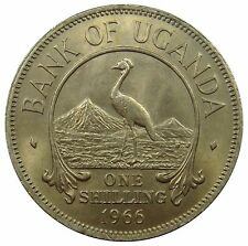 (m37) - Uganda - 1 Shilling - 1966-corone gru-K-N-unc km # 5