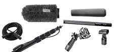 Sennheiser 416 w/ K-Tek KEG100CCR Boompole, Rycote Softie, Pistol Grip & Cable
