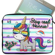 "Personalised Tablet Cover UNICORN COOL Neoprene Sleeve Girls Case 7"" - 10"" KS129"