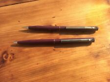SHEAFFER WHITE DOT TRZ MODEL 85 & 62 SLIMLINE BALLPOINT & PENCIL MATTE BURGUNDY
