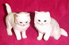 Vtg Kitty Cat Kitten Figurine Figure Set Lot Japan White Fluffy Blue Eyes A231