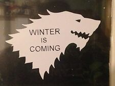 WINTER IS COMING GAME OF THRONES vinyl wall,car,van decal sticker jdm funny