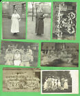 #D607. SEVEN WWI  PERIOD GERMAN HOSPITAL POSTCARDS - NURSES, DOCTORS, ORDERLIES