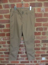 LADIES KATHMANDU EZCARE SIZE 12 TALL TAN PANTS TROUSERS COTTON POLY SLIM FIT