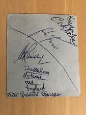 More details for ipswich town autographs + sir alf ramsey early 1960s x 11 england